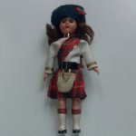 old solid plastic National Costume Scottish Girl Doll #2 7 Inch